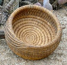 Coiled Pine Needle Basket- Pine straw is considered a non-timber forest product that could be produced by forest farming.  For more information on forest farming, visite www.extension.org/forest_farming