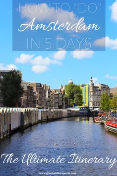 Are you going to spend 5 days in Amsterdam? Then this itinerary is a great fit for you! It offers up the best things to see & do in A'Dam. Visit Amsterdam, Amsterdam Travel, Amsterdam Netherlands, Travel Netherlands, Europe Travel Tips, Places To Travel, Travel Destinations, Places To Go, Travel Packing