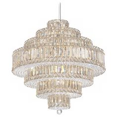 """Schonbek Plaza Collection 24 1/2"""" Crystal Pendant Chandelier ($15,265) ❤ liked on Polyvore featuring home, lighting, ceiling lights, crystal chandelier light, rectangle crystal chandelier, crystal lights, crystal chandelier and crystal chandelier lighting"""