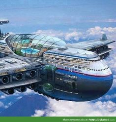 [New] The 10 Best Technologies Today (with Pictures) - New Aeroplane by Air Europe with shopping mall suit rooms swimming pool on top. Three floors first aeroplane in the world. Futuristic Art, Futuristic Architecture, Amazing Architecture, Futuristic Vehicles, Futuristisches Design, Plane Design, Science Fiction Art, Future City, Dieselpunk