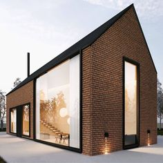 Comment below your thoughts about this project! Cozy house by art partner . Comment below your thoughts about this project! Cozy house by art partner architecture . Modern Brick House, Architecture Résidentielle, Barn Renovation, Brick Facade, Tiny House Design, Architect Design, Cozy House, Building A House, Thoughts