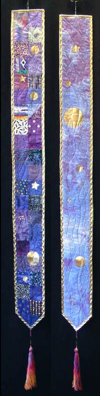 Pieced Banner - Blue and Purple