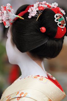 Kanzashi - Ume flowers