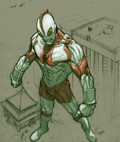 Ultraman sketch by *scabrouspencil on deviantART
