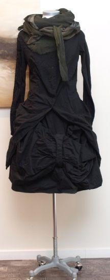 stilecht - mode für frauen mit format... - rundholz dip - Longbluse Stoff Mix black - Winter 2014