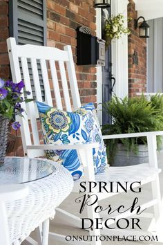 Easy Spring Porch Refresh   Ideas for taking what you already have and making it look new. Budget friendly ways to refresh your outdoor space! #bHomeApp