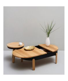 Batea L - Coffee Table designed by WOODENDOT made in Spain as part of Furniture and Tables and Coffee Tables tagged Natural wood furniture and Spanish furniture and Top design tables - image 1 on CROWDYHOSUE
