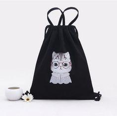 90621bba82d5 Shoulder Bags for Girls Women Canvas Handbag Backpacks Drawstring Shoes  Storage Bags Schoolbags Travel Shoulder Organizer Gift 3