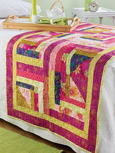 Quilting - Bed Quilt Patterns - Runner Patterns - Triangle Beginnings