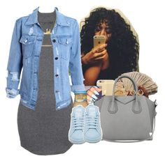 """""""""""I said you don't need nobody else feels like you don't got me, so you feel like you've been by yourself. I've been feeling kinda down myself. I been going through it as well."""" """" by heavensincere ❤ liked on Polyvore featuring Monique Péan, Michael Kors, Givenchy, adidas, Charlotte Russe, women's clothing, women, female, woman and misses"""