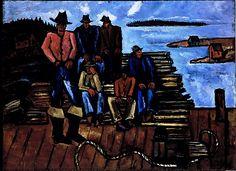 Marsden Hartley, Lobster Fishermen, 1940-41