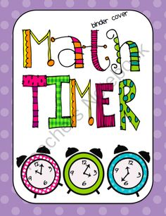 Math Centers & Guided Math T.I.M.E.R. Organization Package from Sweets n Treats on TeachersNotebook.com -  (20 pages)