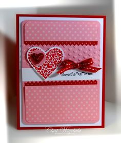 Valentine by Chat Wszelaki at Me, My Stamps and I: P. I Love You by catrulz Valentine Greeting Cards, Greeting Cards Handmade, Love Valentines, Valentine Crafts, Valentine Ideas, Engagement Cards, Ideas Geniales, Embossed Cards, Stamping Up Cards