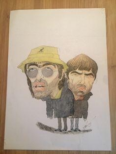 Oasis drawn by Mark Tunnah