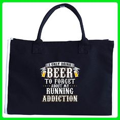 I Drink Beer To Forget About My Running Addiction - Tote Bag - Totes (*Amazon Partner-Link)