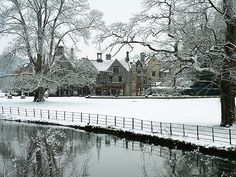 Spend Christmas at an British manor hotel.