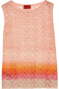 Shop on-sale Missoni Crochet-knit tank. Browse other discount designer Knitwear & more on The Most Fashionable Fashion Outlet, THE OUTNET.COM