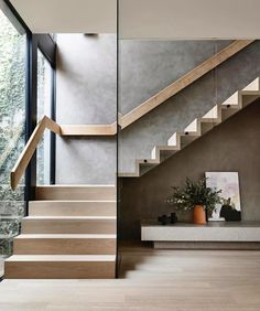 Bayside House by Matyas Architects Melbourne VIC Australia 11 20 2019 Home Stairs Design, Interior Stairs, House Design, Stair Design, Staircase Design Modern, Modern Railing, Modern Interior Design, Room Interior, Wall Design