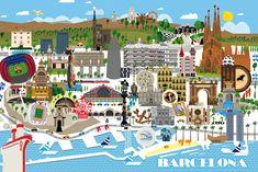www.raulgomez.es  Plano Barcelona  Descripción: Plano de Barcelona para los cuartos de baño del un nuevo hotel Pallars en Barcelona  Cliente: Beriestain Interiores SL.