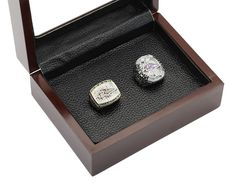 Baltimore Ravens NFL Championship Rings Set 2 in One Wooden Display Box Collections - Football