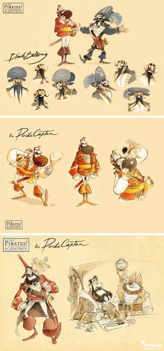 Pirates (conceptart by Character Design Animation, Character Design References, Character Drawing, Character Illustration, Character Concept, Concept Art, 3d Character, Illustrations, Character Design Inspiration