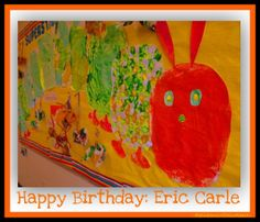 carl hungri, birthday parties, bulletin boards, hungry caterpillar, early childhood, parti idea, caterpillar craft, hungri caterpillar, eric carle