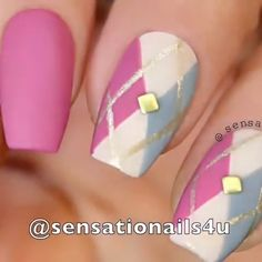 Amazing Argyle Nail Art Diy Trends Of 2019 / For Elegant Women Source by Pretty. - - Amazing Argyle Nail Art Diy Trends Of 2019 / For Elegant Women Source by PrettyJenny - Nail Art Hacks, Nail Art Diy, Easy Nail Art, Cute Nail Art, Diy Nails, Cute Nails, Beautiful Nail Art, Pretty Nails, Nail Art Designs Videos