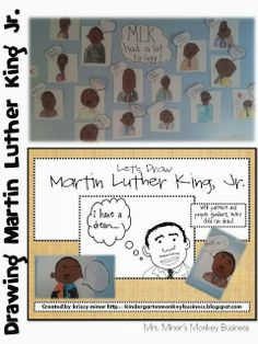 Martin Luther King, Jr. Guided Drawing Freebie Plus Other Activities to plan for your students