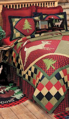 Lodge Cabin Quilt the perfect touch for Christmas!!