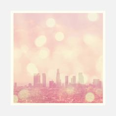 City of Dreamers. Los Angeles skyline photograph Art Print by Myan Soffia - X-Small Los Angeles Skyline, Retro Photography, La Art, Green Art, The Dreamers, Fine Art Prints, Original Art, Artsy, Tapestry