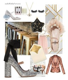 """""""#sparkleshoes #glitter #cocktail #bar #gold #silver #sparkle #embellishedshoes #stepiintothemagic"""" by cielshopinteriors ❤ liked on Polyvore featuring Ciel, Miu Miu, Aspinal of London, Sydney Evan, Henri Bendel and Mother of Pearl"""