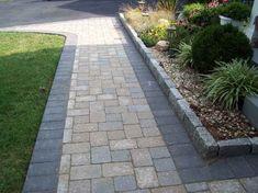 Paver walkway patterns stone walkway ideas best for walkway stone walkway ideas brick stone sidewalk ideas . Paver Pathway, Driveway Paving, Garden Paving, Garden Paths, Modern Driveway, Concrete Walkway, Paving Ideas, Walkway Ideas, Driveway Ideas