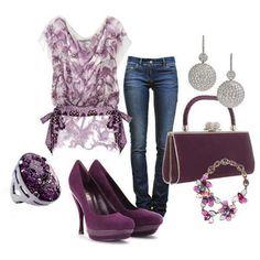 Purple <3 (minus the heels! Boots?? )