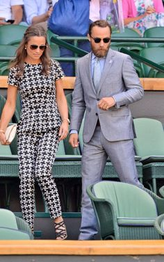 Pippa Middleton with her brother