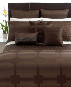 Hotel Collection Bedding, Meridian Sepia Collection - Bedding Collections - Bed & Bath - Macy's