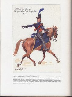 Command and staff: Plate 47: Aide-de-Camp of a General of Brigade, 1812.