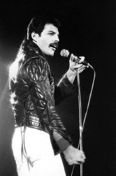 75ef2e459fcd03 Freddie Mercury fantastic leather jacket on a fantastic man  He was born to  wear leather.  that moustache.