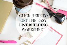 How to Build a List - Classy Career Girl