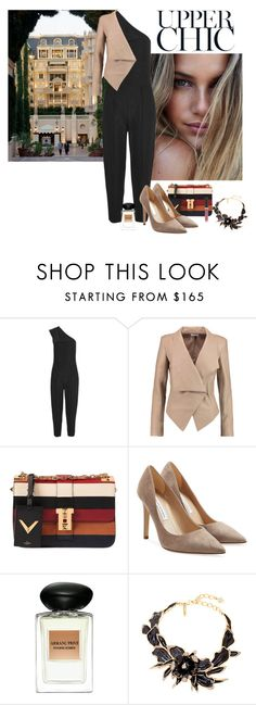 """Weekend In Monte Carlo"" by katiethomas-2 ❤ liked on Polyvore featuring STELLA McCARTNEY, Helmut Lang, Valentino, Diane Von Furstenberg, Giorgio Armani, Oscar de la Renta and Becca"