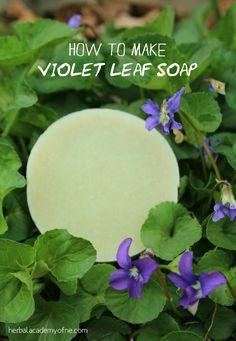 How to Make A Natural, Herbal Soap - Violet Leaf Soap Recipe #soapmaking #natural #diy