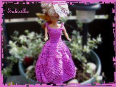Puppenkleidung - *Abendkleid ** flieder - ein Designerstück von Sabisilke bei DaWanda