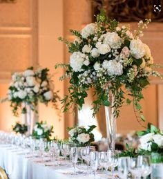 Wedding centerpieces are one of the key positions of the wedding decor. The most impressive, of course, are the floral wedding centerpieces. Tall Wedding Centerpieces, Wedding Table Flowers, Wedding Flower Arrangements, Floral Wedding, Wedding Bouquets, Centerpiece Flowers, Trumpet Vase Centerpiece, Centerpiece Ideas, Vase Ideas