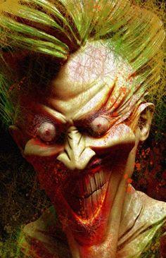 """Joker"", tribute to Dave McKean by Rebecca Puebla Comic Book Artists, Comic Books Art, Comic Art, Return Of The Joker, The Long Halloween, Joker Arkham, Dave Mckean, Norman Rockwell Paintings, Joker Art"