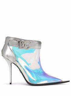 Holographic Print, Ankle Boots, Dolce E Gabbana, Ankle Length, Calf Leather, Stiletto Heels, Footwear, Shopping, Shoes
