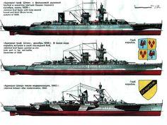 KSM Admiral Graf Spee (1 and 2) and KSM Admiral Sheer (3) - Deutschland-class pocket battleships