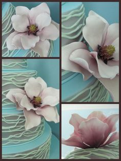 Inspired by Michelle Cake Designs  playing with gumpaste magnolias —