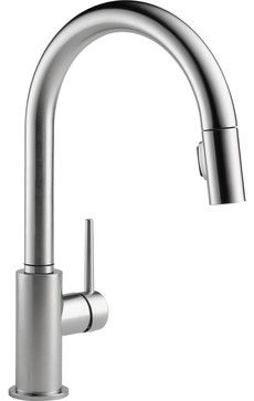 Delta Trinsic Arctic 1 Handle Pull Down Kitchen Faucet Modern Kitchen Faucets