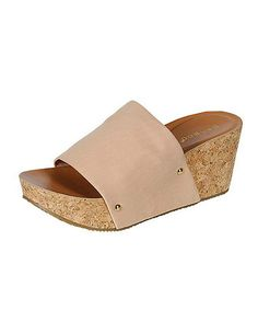 Another great find on #zulily! Nude Aubrey Wedge Sandal by Bamboo #zulilyfinds