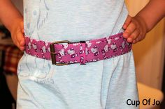 Hello Kitty Packing tape belt~ could do this with any of the cool duck tape out there.