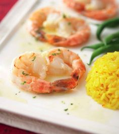 Shrimp Baked in Champagne Butter Sauce